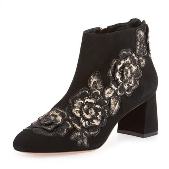 8ca4b146af3c Sophia Webster Winona Floral Appliqué Ankle Boots
